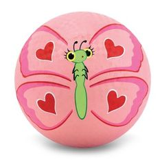Melissa & Doug Sunny Patch Bella Butterfly Classic Rubber Kickball: Give this cheerfully colored ball a kick and set Bella Butterfly in flight! Perfect for outdoor catching and kicking games, this tough rubber ball is favorite on sunny days. Pebble Painting, Pebble Art, Stone Painting, Diy Painting, Shell Painting, Rock Painting Ideas Easy, Rock Painting Designs, Paint Designs, Painted Rocks Craft