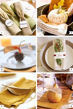 Beautiful, natural place settings for Thanksgiving - sophisticated and EASY!