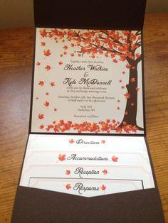 fall wedding invitations best photos - fall wedding - cuteweddingideas.com