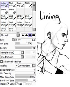 ◄ Boomer ► Paint Tool SAI brush settings