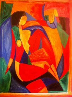 Planet Ouest Evasion: peinture abstraite peinture a l huile