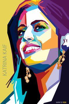Wedha's Pop Art Portrait of Katrina Kaif