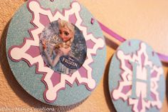 Frozen inspired Happy Birthday Banner - Elsa / Winter Wonderland by AbbeyMarieCreations on Etsy https://www.etsy.com/listing/182110927/frozen-inspired-happy-birthday-banner