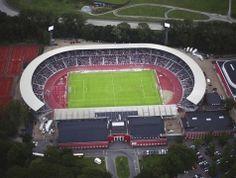 NRGi Park in Aarhus. This stadium is home to Aarhus GF in Denmark.