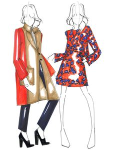 WHIT Fall 16 - Design by WHIT and Fashion Illustration by Alessandra De Gregorio…