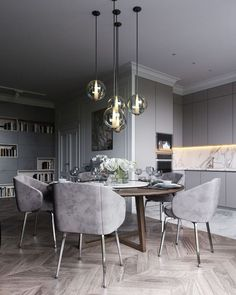 15 Astonishing Oval Dining Tables for Your Modern Dining Roo.- 15 Astonishing Oval Dining Tables for Your Modern Dining Room Look to some supreme and elegant oval dining tables. Dining Room Table Decor, Modern Dining Room Tables, Luxury Dining Room, Elegant Dining Room, Dining Room Design, Dining Room Furniture, Room Decor, Kitchen Design, Dining Chairs