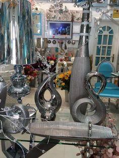 elementos decorativos en cerámica  plata en www.virginia-esber.es