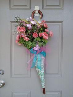 april door hanger | Spring Umbrella door hanger by PleasantGroveDesigns on Etsy, $30.00 ...