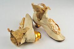 Gold heeled wedding Boots, 1873.