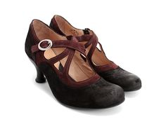Pearl Hart (Black & Burgundy) These are John Fluevog shoes. I have some and they are amazing handmade shoes!!