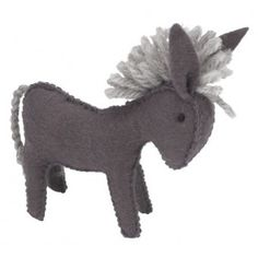 Speelgoed ezeltje in vilt donkey