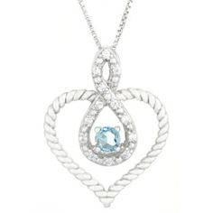 Diamond Aquamarine March Birthstone Heart Infinity Pendant In Silver Gemologica.com offers a unique simple selection of #handmade #fashion #fine #jewelry for #men #women #children to make a statement. We offer #earrings #bracelets #necklaces #pendants #rings with #gemstones #diamonds #birthstones available in Sterling #Silver 10K 14K 18K #yellow #rose #white #gold #titanium silver #metal. Shop Gemologica jewellery now for cool cute design ideas Gemologica Customer Reviews
