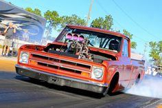 With an all-steel, stock appearing cab and bed and an alcohol-gulping, supercharged big block Chevrolet under the hood, Andrew and Austin Stephens' Chevy pickup is as cool as it gets. 67 72 Chevy Truck, Chevy C10, Chevrolet Trucks, Chevy Pickups, Lowered Trucks, C10 Trucks, Pickup Trucks, Bagged Trucks, Hot Rod Pickup