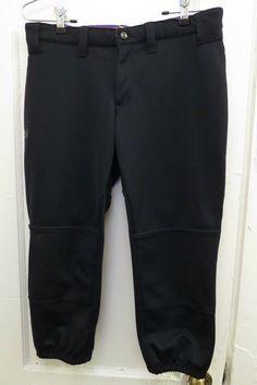 27b8790d705 Under Armour Softball Pants Women s Medium Black Polyester Baseball Capri M   Underarmour