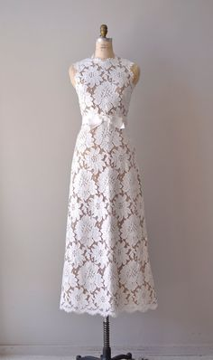 vintage lace wedding dress / 1960s wedding gown / by DearGolden, $625.00