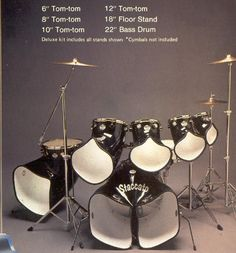 Staccato Drums Voyager 6 kit.  An even RIDICULOUSER [sic] concept than NORTH Drums