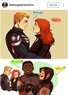 When Sam and Bucky need to be obnoxious to prove a point...