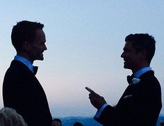 Neil Patrick Harris shared a photo from his Italian wedding ceremony to longtime partner David Burtka.