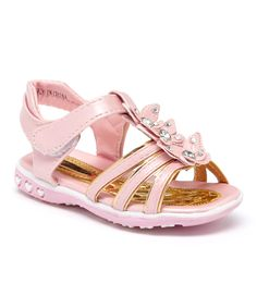 Pink Rhinestone Butterfly Sandal