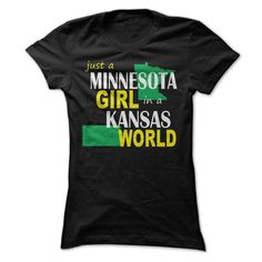 (Tshirt Design) Minnesota girl in a Kansas at Tshirt Best Selling Hoodies, Funny Tee Shirts