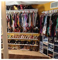 Convert a room into a walkin closet..yes!!