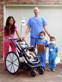 how to carry an infant for trick or treating. Stroller Halloween Costumes, Funny Kid Halloween Costumes, Stroller Costume, Disney Family Costumes, Couples Costumes Adult, Halloween Kids, Teen Costumes, Woman Costumes, Couple Costumes