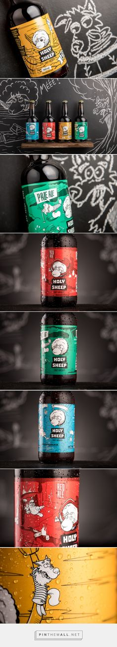 Holy Sheeeeeep! Craft Beer #abel design by Empório Adamantis - http://www.packagingoftheworld.com/2016/10/holy-sheeeeeep.html
