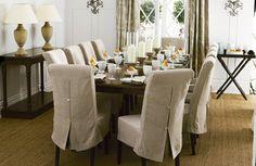 Prevenir é melhor que remediar por isso providenciar as capas para cadeira de jantar, além de deixar esses móveis mais elegantes ainda ajuda a protegê-los
