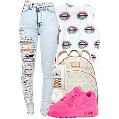 A fashion look from December 2014 featuring loose tops, acid wash jeans and pattern backpack. Browse and shop related looks.