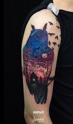 Lukovnikov owl tattoo