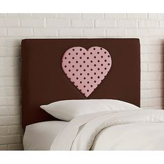 Skyline Furniture Upholstered Heart Headboard, Twin, Choc. Pnk Dot Mr Price Home, All Heart, Staging, Diy And Crafts, Twin, New Homes, Dots, Skyline, Walmart