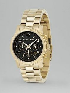 Michael Kors Round Gold Bracelet Watch