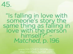 matched series quotes - if this is true I'm in love with many fictictional characters
