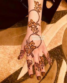#henna #mehendi Modern Henna Designs, Henna Tattoo Designs Simple, Floral Henna Designs, Finger Henna Designs, Henna Art Designs, Mehndi Designs For Beginners, Mehndi Designs For Girls, Mehndi Design Photos, Mehndi Designs For Fingers