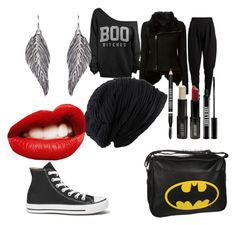 """""""Boo!"""" by neck-deep101 ❤ liked on Polyvore featuring Rick Owens, Pieces, Converse and Lord & Berry"""