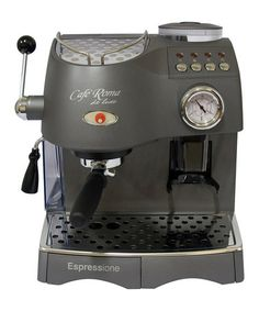 Take a look at this Anthracite Roma Deluxe Espresso Machine by Espressione on #zulily today!