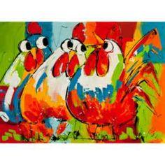 Schilderijen op canvas van LIZ / Kippen