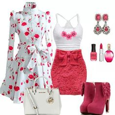 #outfit #red #white