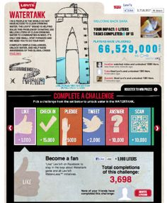 Featured Facebook Campaigns: Levi's and Water.org, Sprite and Discover Ireland