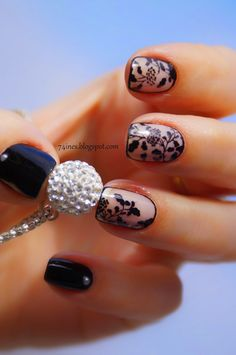 Love these elegant looking nails, takes a lot of patience to do