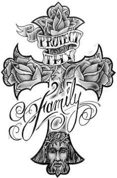 37 Ideas Tattoo Ideas Skull Roses Art Prints For 2019 Chicano Tattoos, Dope Tattoos, Leg Tattoos, Body Art Tattoos, Sleeve Tattoos, Cross Tattoos, Tatoos, Cross Tattoo Designs, Tattoo Design Drawings