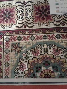 Counted Cross Stitch Patterns, Cross Stitch Embroidery, Cross Stitches, Oriental, Needlepoint, Embroidery Designs, Diy And Crafts, Bohemian Rug, Crochet Patterns
