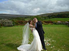 Stephanie and Donny on the lawn in Gregans Castle Destination Wedding, Wedding Venues, Wedding Ideas, Lawn, Ireland, Castle, Weddings, Wedding Dresses, Image
