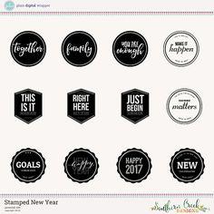 Stamped New Year by SCD #plaindigitalwrapper #digitalkit #scrapbook #southerncreekdesigns #scd #stamps #digitalstamps #newyear