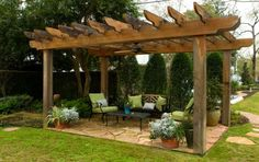 Patio trellis...outdoor gatherings, but climbing roses would add shade, beauty and aroma