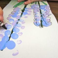 So delicately beautiful! Perspective, monet, tints, analogous??, contour line, color feeling, ...---  Hyacinths | Dali's Moustache