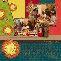 Live Laugh Celebrate Kwanzaa Digital Scrapbook Layout Idea from Creative Memories