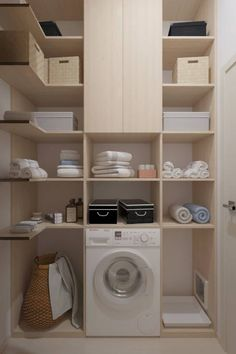 When it comes to the laundry, the most important point is to get the storage right. Modern Dressing room by Катя Волкова