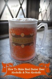 Several #Butterbeer recipes that taste Just like the stuff they serve at Universal Studious. AMAZING. We even created an alcoholic version for the adults!