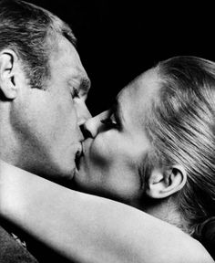 "Steve McQueen and Faye Dunaway in ""The Thomas Crown Affair"""